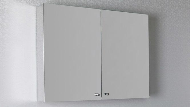 简约不锈钢镜柜 挂墙式不锈钢浴室镜柜 双开门卫生间镜柜800×600mm GD6205
