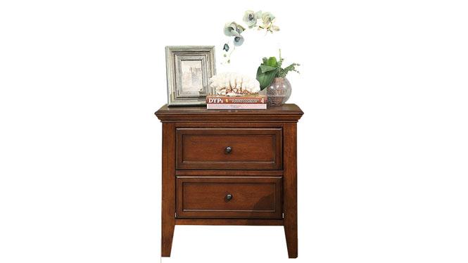 美式乡村实木床头柜欧式现代卧室迷你简易复古储物柜601-62-35