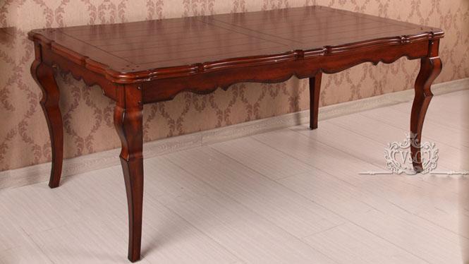 六人餐桌实木美式乡村餐台法式古典长方形简约长餐桌600-22A-35