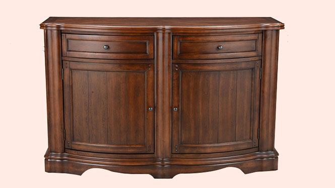 美式乡村实木餐边柜橱小柜餐前柜碟碗柜 茶水储物柜600-26-35