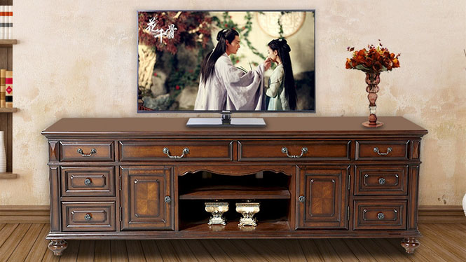 美式乡村电视柜实木小户型新古典简约茶几组合套装801-08-35