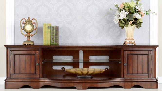 实木美式电视柜欧式新古典客厅地柜地中海茶几组合800-08-35