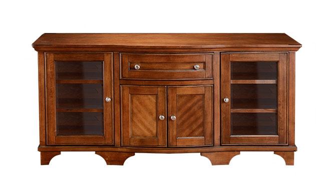 美式全实木卧室电视柜 欧式现代简约客厅电视柜茶几组合H5195