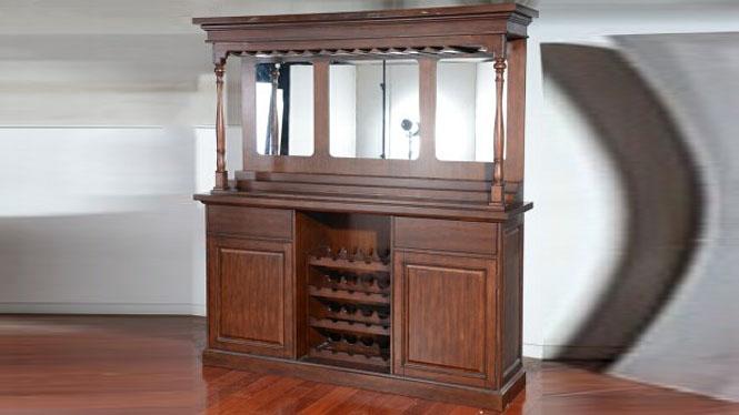 美式实木餐边柜厨房柜碗柜储物柜子 边柜大酒柜5810-35-B
