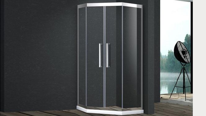 钻石型整体浴室304不锈钢定制淋浴房隔断屏防爆膜421005