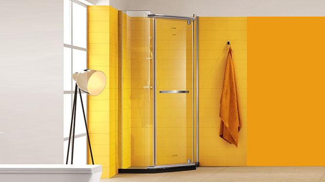 钻石型304不锈钢浴室淋浴房钢化玻璃淋雨隔断整体淋浴房421004