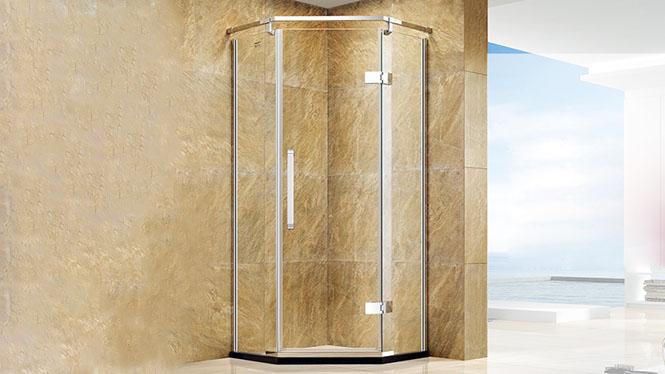 整体淋浴房 304不锈钢 钻石型沐浴房定制 钢化玻璃421003