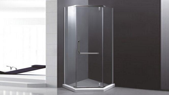 不锈钢钻石型简易淋浴房推拉门8mm钢化玻璃 隔断浴室屏风421002