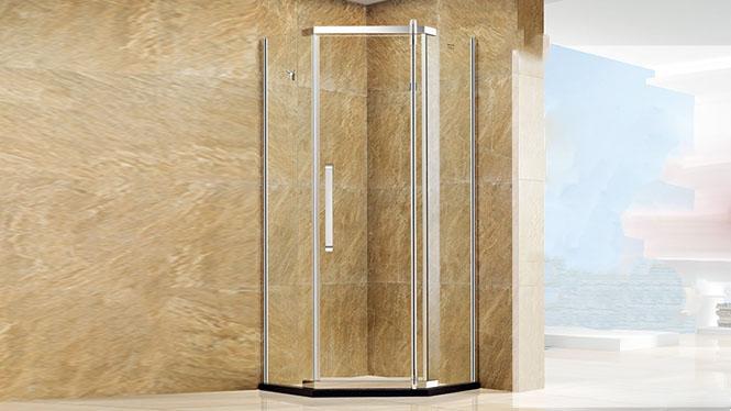 钻石型沐浴房 整体淋浴房 304不锈钢 钢化玻璃421001