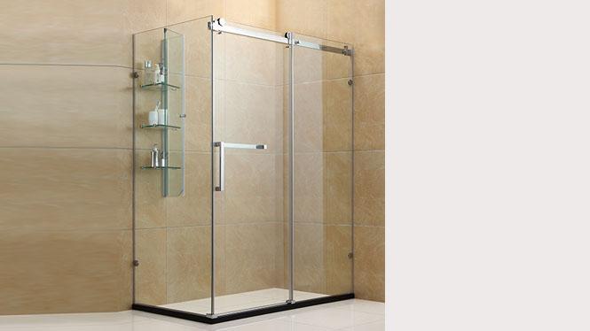 方形淋浴房304不锈钢浴室洗浴房 钢化玻璃隔断简易浴房322002