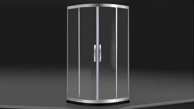 全弧形淋浴房整体 不锈钢沐浴房简易浴室玻璃移门隔断定制222006