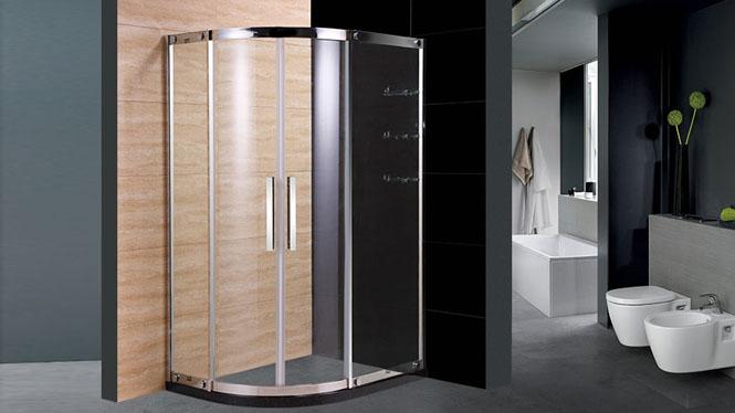 扇弧形304不锈钢整体简易淋浴房 钢化玻璃隔断屏风222004