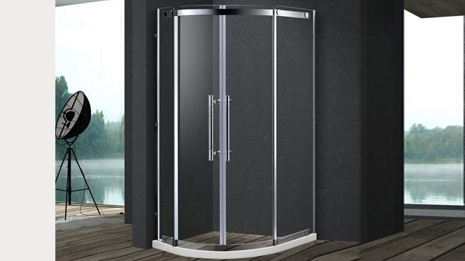 淋浴房弧形门 不锈钢弧扇型淋浴房整体屏风拉门洗澡间222003