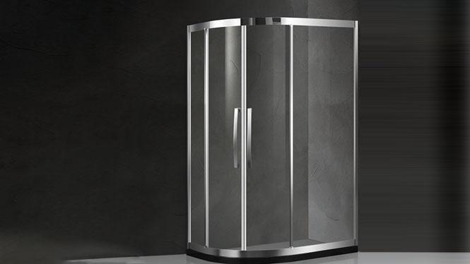 弧扇形304不锈钢淋浴房整体钢化玻璃洗澡间沐浴屏222002