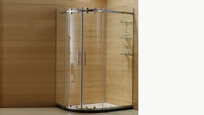扇弧形不锈钢淋浴房 整体浴室沐浴房 钢化玻璃浴房221001