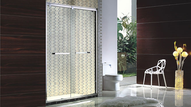 一字型不锈钢淋浴房 整体浴室隔断 钢化玻璃卫生间洗浴房122005