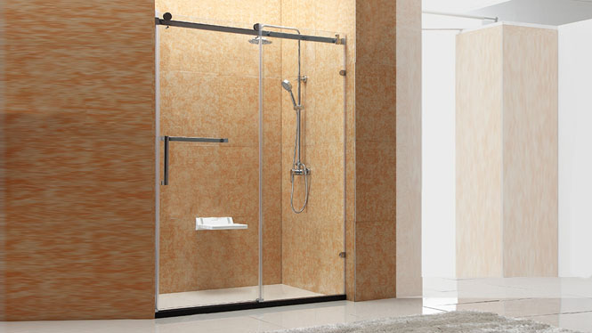 淋浴房整体 304不锈钢 一字形简易沐浴房隔断浴屏122003