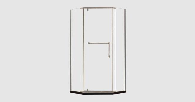 钻石型淋浴房整体 钢化玻璃简易洗浴房 卫生间隔断411003