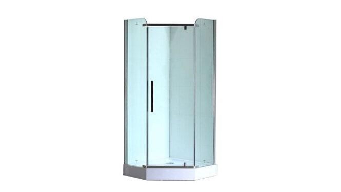 钻石形淋浴房 简易淋浴房屏风隔断铝合金淋浴房411002