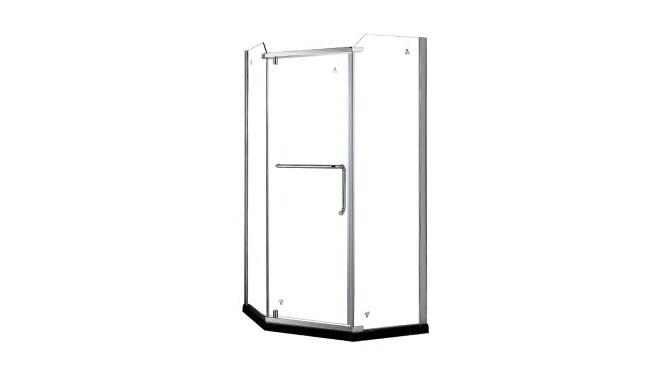 钻石型卫生间铝合金整体淋浴房浴室钢化玻璃隔断411001