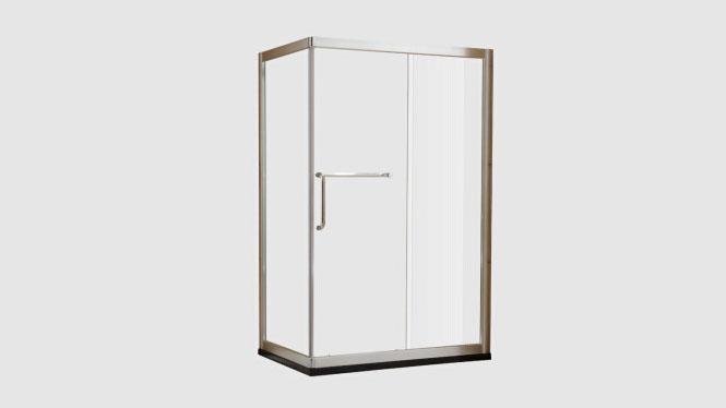 简易铝材浴室洗浴房 卫生间钢化玻璃隔断浴屏方形定制312004