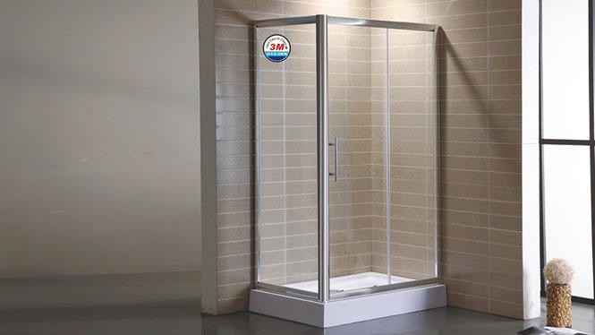 简易铝材方形淋浴房 3C钢化玻璃淋浴房 整体浴室隔断浴屏312003