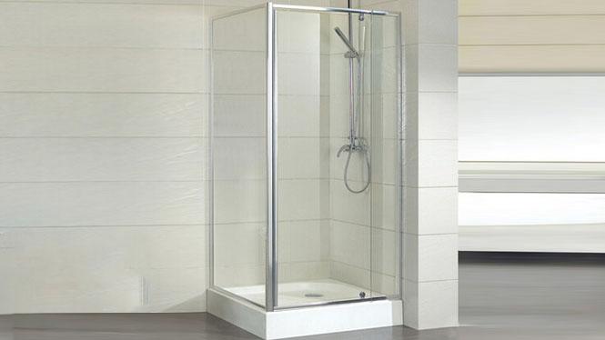 方形铝材淋浴房推拉可伸缩铝材汽车级全钢化玻璃312001