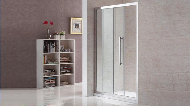 一字隔断铝合金淋浴房整体钢化玻璃沐浴房定做112004