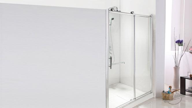 一字型淋浴房铝合金隔断 推拉移门 简易淋浴房112002