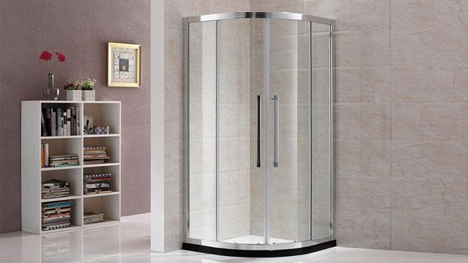 扇形沐浴房卫浴淋浴房铝合金钢化玻璃简约隔断212005