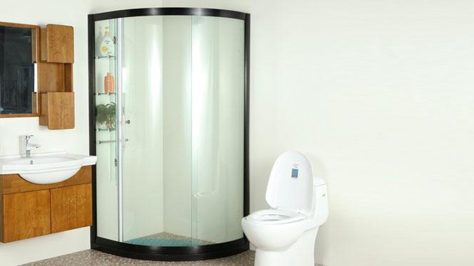 圆弧淋浴房整体定制 3C钢化玻璃 简易铝镁合金212004