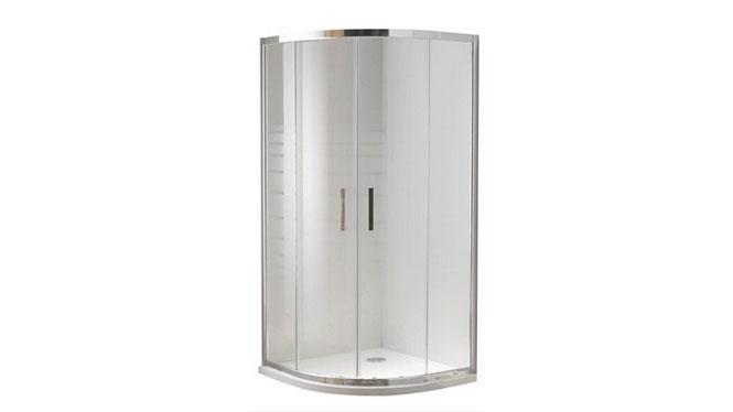 弧形淋浴房浴室隔断整体简易拉门铝合金浴室房212003