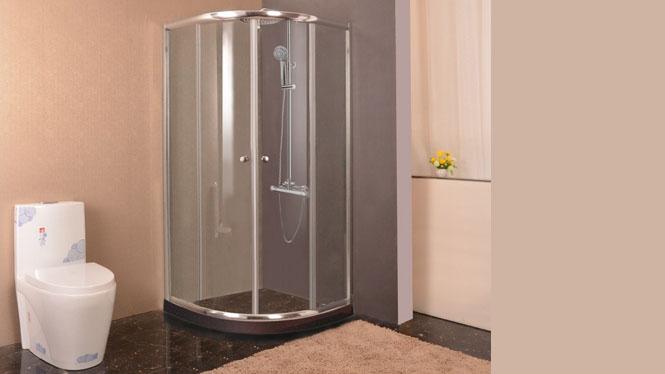 弧形淋浴房 整体浴房 钢化玻璃铝合金简易淋浴房212002