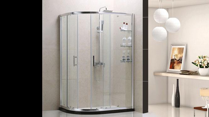 弧扇形铝材淋浴房整体浴室移门钢化玻璃隔断屏风212001