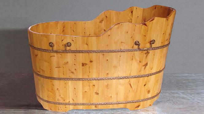 橡木浴桶 美容理疗浴盆 木质洗澡浴缸 家用成人泡澡木桶 桑拿浴盆026A
