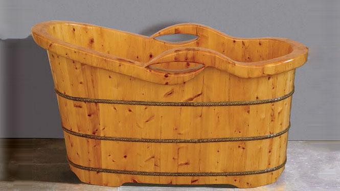 家用浴缸 桑拿泡澡盆 超大号养生保健浴盆 木质理疗天然沐浴桶031A