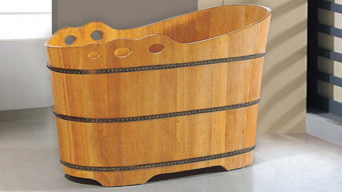 家用澡盆 木质洗浴大木盆 家用养生泡澡木桶 超大号桑拿沐浴缸019A