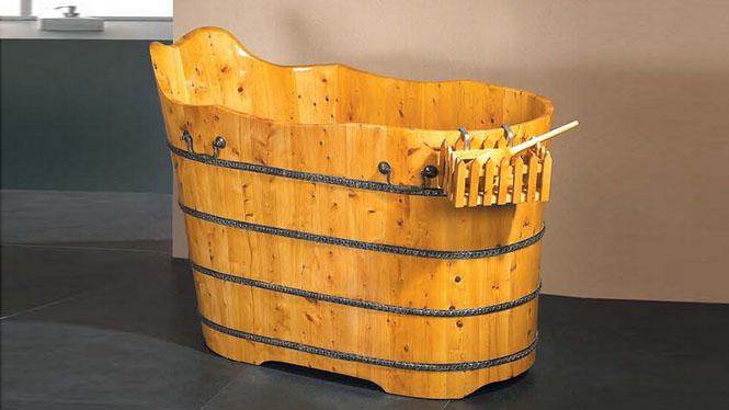 家用浴桶 大号洗澡盆 木质成人沐浴缸 家用养生保健大木盆012A