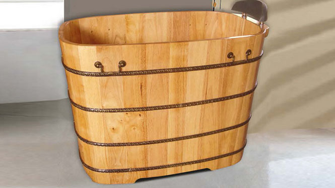 橡木沐浴桶 美容理疗浴盆 家用成人养生泡澡盆 天然环保洗澡浴缸056A