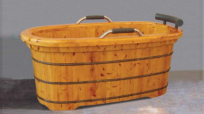 洗澡浴桶 养生泡澡浴缸 成人家用理疗洗浴木桶 美容院桑拿沐浴缸042A