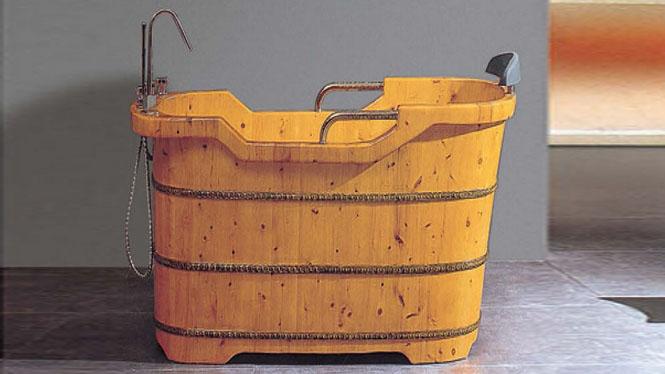 沐浴木桶 带头枕洗澡浴盆 成人泡澡沐浴缸 家用洗浴澡盆 桑拿浴桶044A