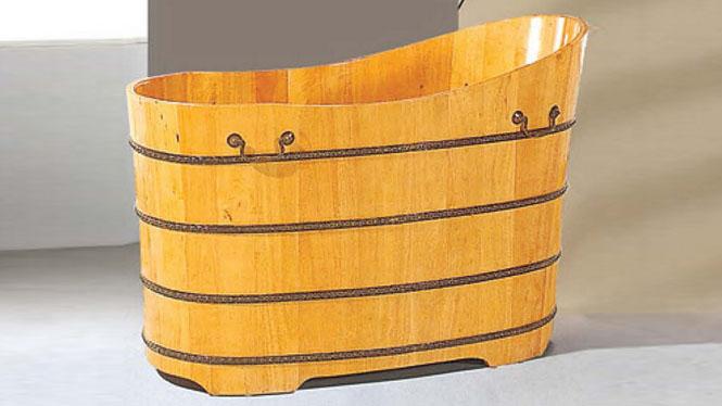 木质浴盆 天然环保浴桶 成人养生洗浴木桶 家用木质泡澡盆 浴缸046A