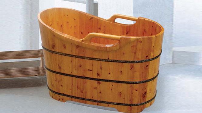 成人洗澡盆 天然环保浴桶 养生泡澡超大号沐浴盆 木质理疗沐浴缸005A