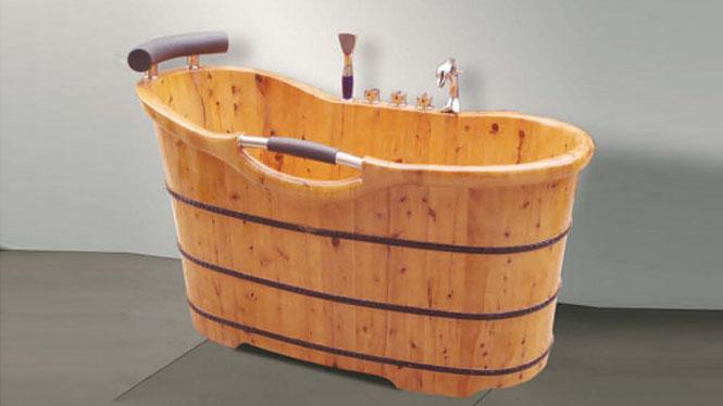 成人洗浴澡盆 木质养生美容沐浴缸 家用泡澡桑拿木桶039A