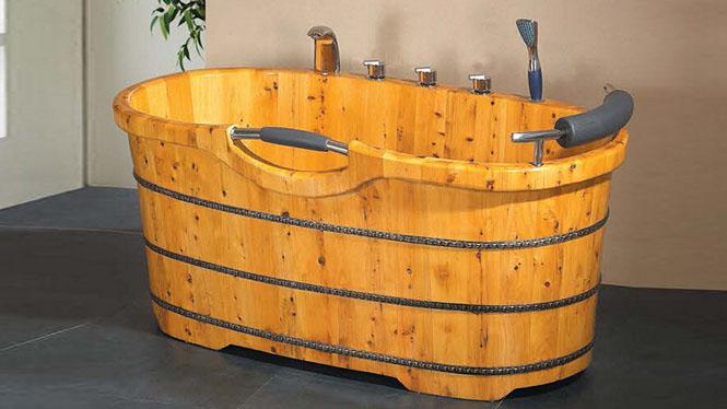 洗浴桶 家用桑拿浴桶 木质成人养生沐浴缸 美容院泡澡盆 配套齐全029A