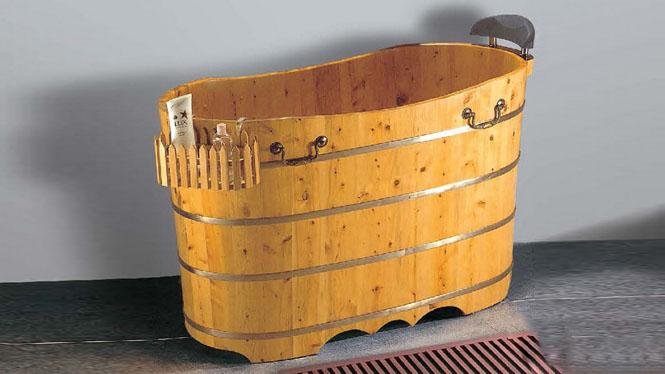 成人卫浴 家用木质浴盆 洗澡桑拿木桶 养生沐浴理疗大木盆 洗浴桶049A
