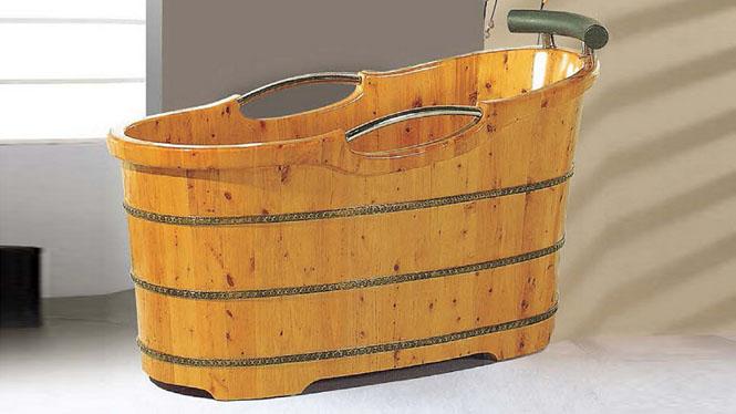 家用浴缸 超大号洗浴澡盆 洗澡保健浴桶 木质养生泡澡浴桶004A