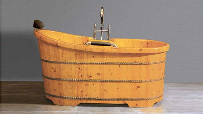 成人沐浴盆 家用美容院泡澡盆 木质美容理疗浴缸048A