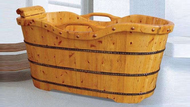 成人澡盆 家用理疗浴桶 木质洗澡养生大木桶 舒适洗澡沐浴桶023A