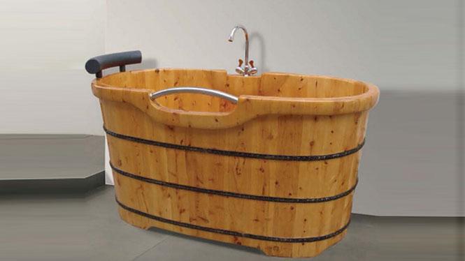 成人浴盆 实木洗澡木桶 美容理疗浴缸 家用泡澡沐浴桶 淋浴008A